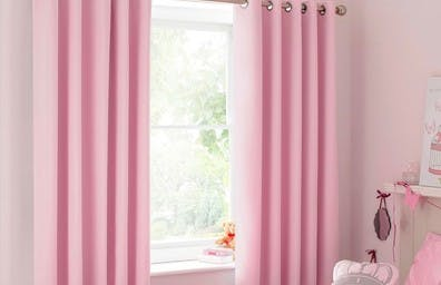 The blackout  curtains