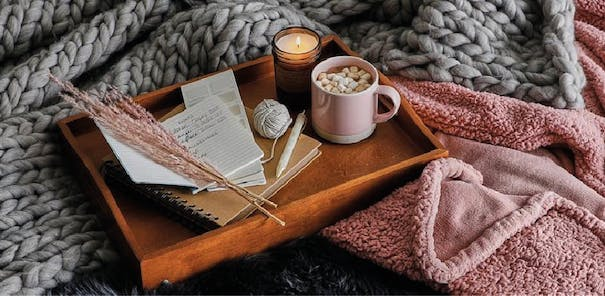 Surround yourself with softness & take some time out to relax