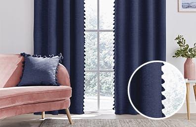 Tassel Blue Curtains