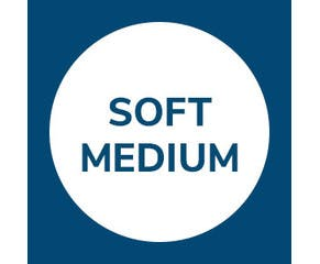 Soft-Medium mattresses support and provide comfort to those preferring to sleep on their front and/or side