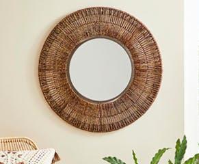 Seagrass Round Wall Mirror