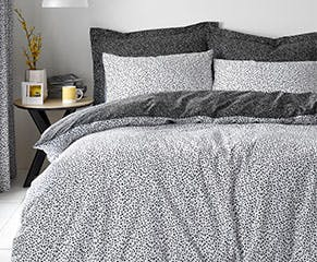Dottie Black Bedding Set
