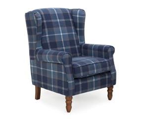 Oswald Wingback Navy Armchair