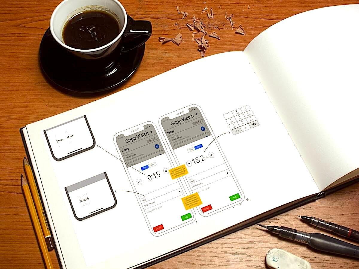 UX design app en wireframes voor app