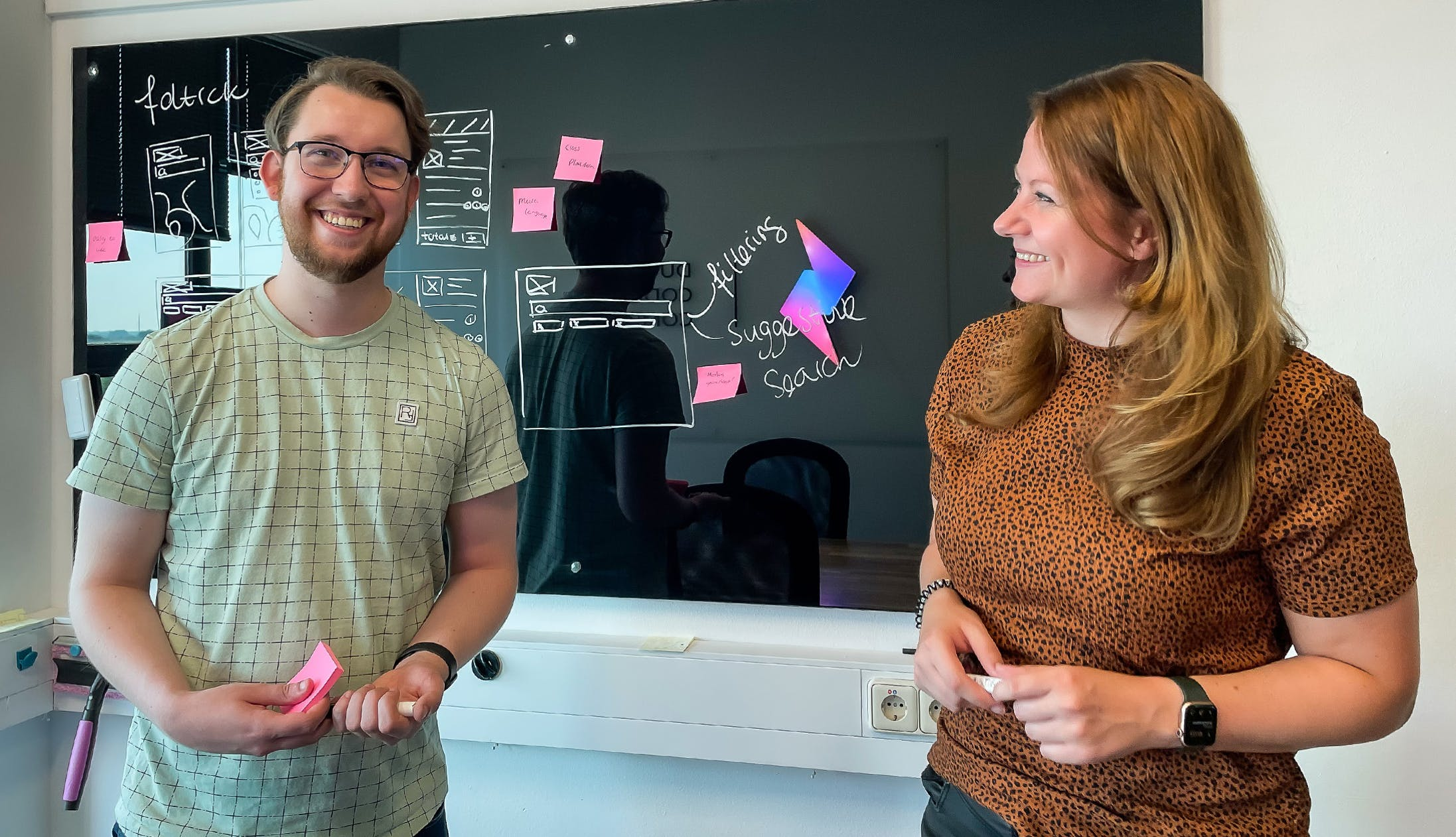 Developer Stijn and designer Sanne