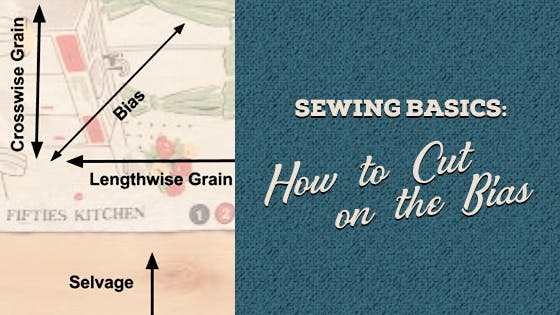 Sewing basics: How to cut on the bias