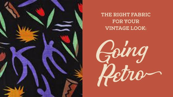 Fabric By The Decade: Vintage Fabrics