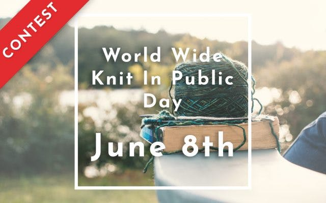 Win free custom labels by participating in World Wide Knit In Public Day