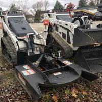 Brush cutter mower attachment for mini Skid Steer