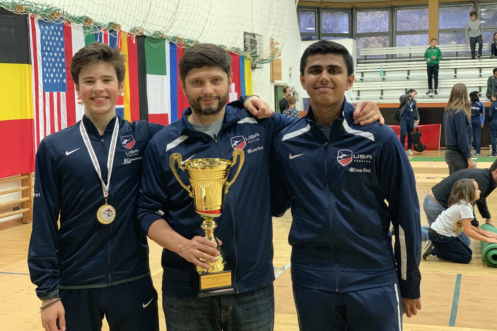 Simon Kushkov wins 5th individual and gold in Team (USA 1) at Cadet World Cup in Godollo, Hungary (2019). Surya Sakhamuri makes top 32, and has earned national and world points.