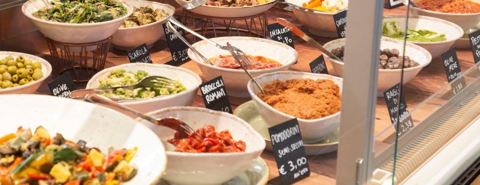 Piatti Take Away della Gastronomia di Eataly Roma