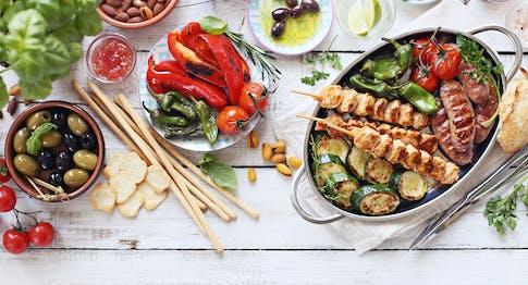 Contorni per grigliata di carne e di pesce