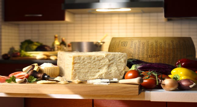 A cena con il Parmigiano Reggiano