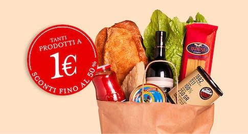 È il nostro onomastico: Tanti prodotti a 1 € e sconti fino al 50%.