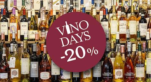 Vino Days: -20% su tutti i vini!