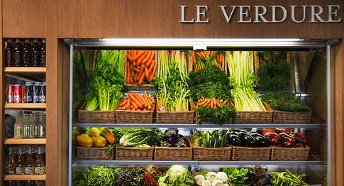 Il banco delle verdure di Eataly