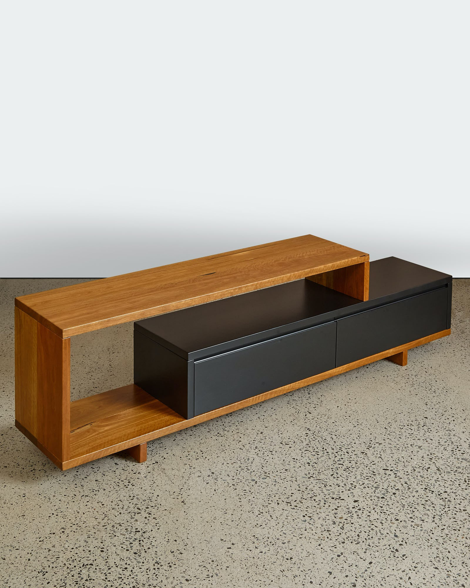 The Elias TV unit with two drawers