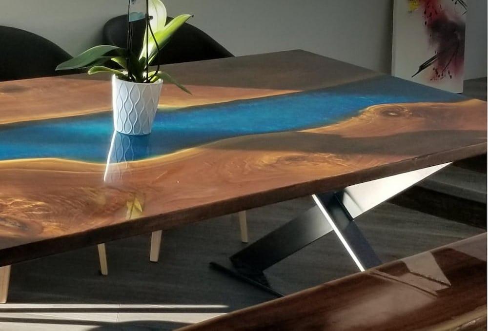 Epoxy Resin Live Edge River Table