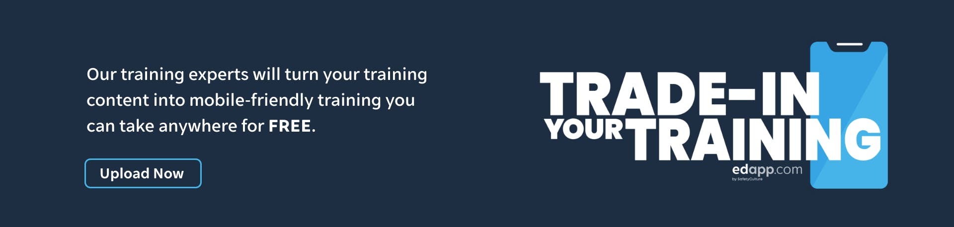 Trade in your training