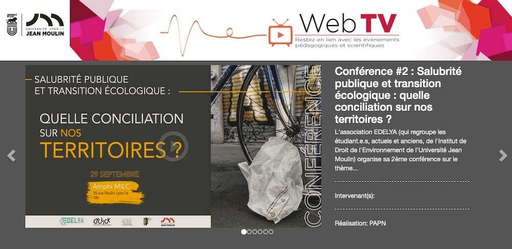 WebTV Lyon 3 EDELYA