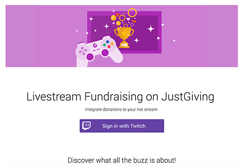 Justgiving Gaming