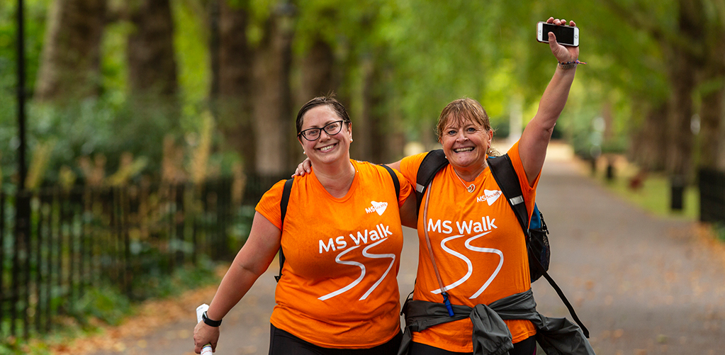 My MS Walk - Walkers in MS Walk t-shirts