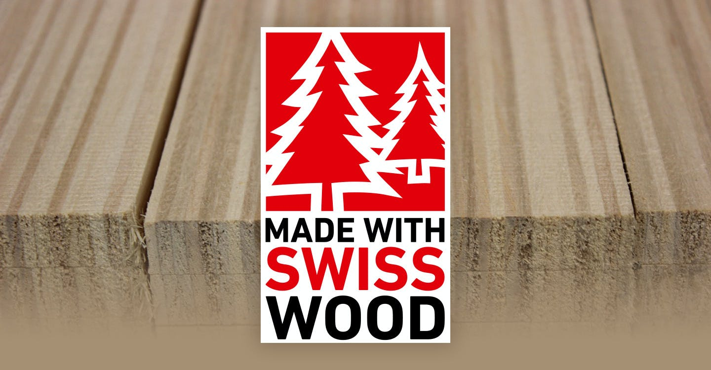 Wood cores made in Switzerland
