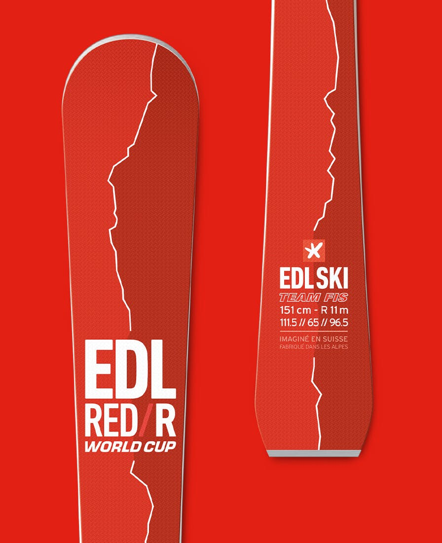 ski edl red/r junior