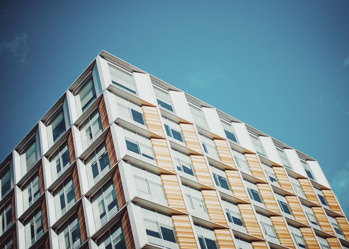 Abstract photo of a block of flats in London