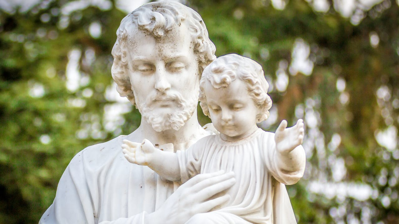 Statue Saint Joseph et Jésus