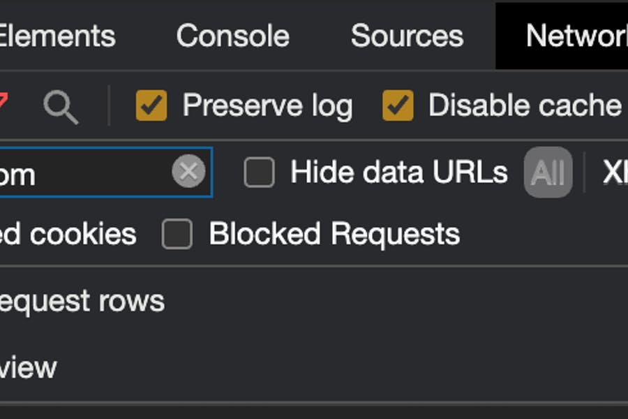 Filtering requests from a specific URI