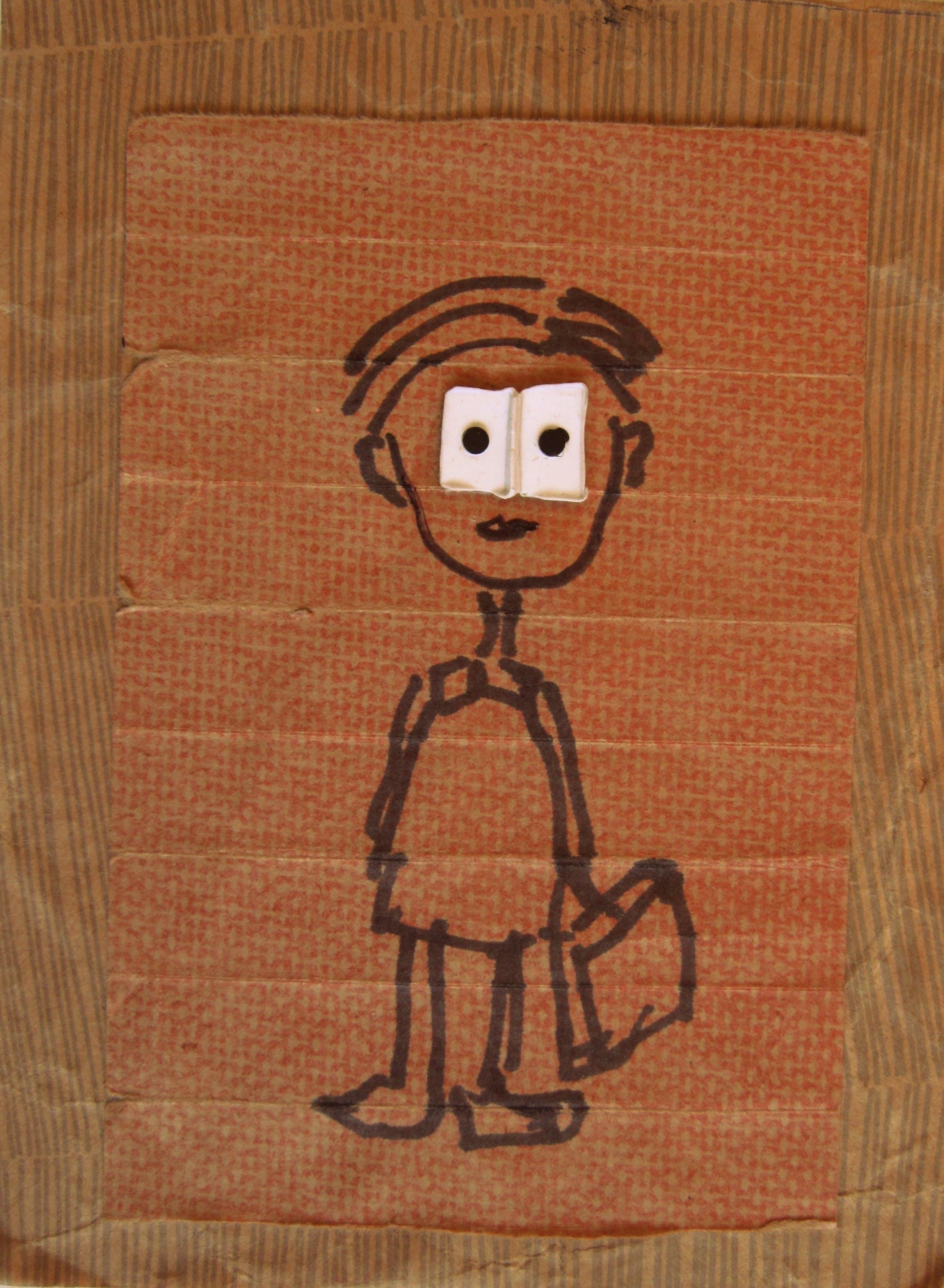 Ystävyydellä, 15cm x 10cm, kollaasi, 2007