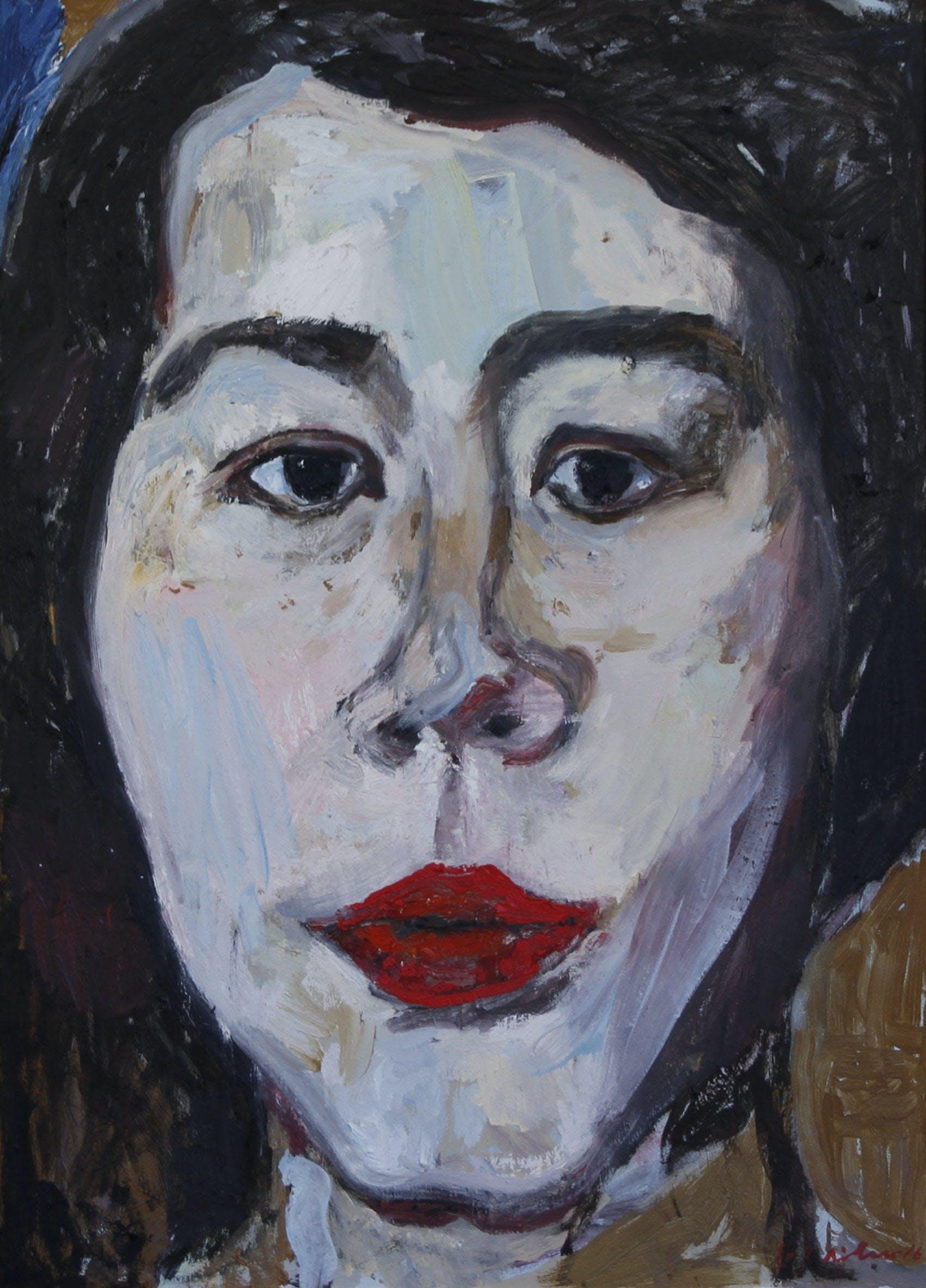 Ann, 100cm x 57cm, öljy/tempera, 2018