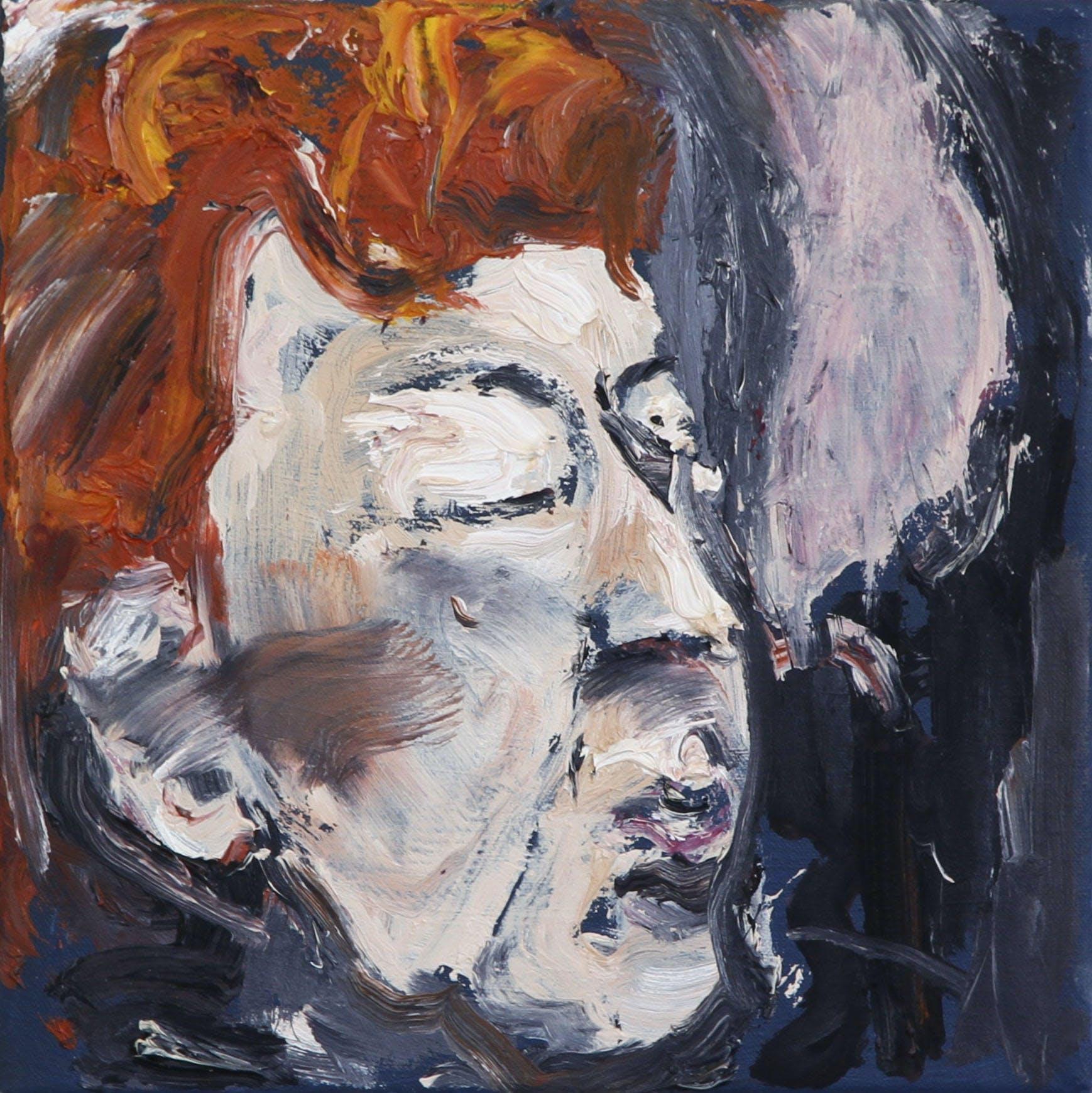 Claire, 20cm x 20cm, öljy kankaalle, 2017