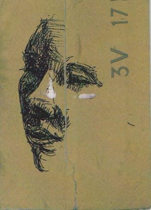 Omakuva, 15cm x 10cm, tussi/pahvi, 2010