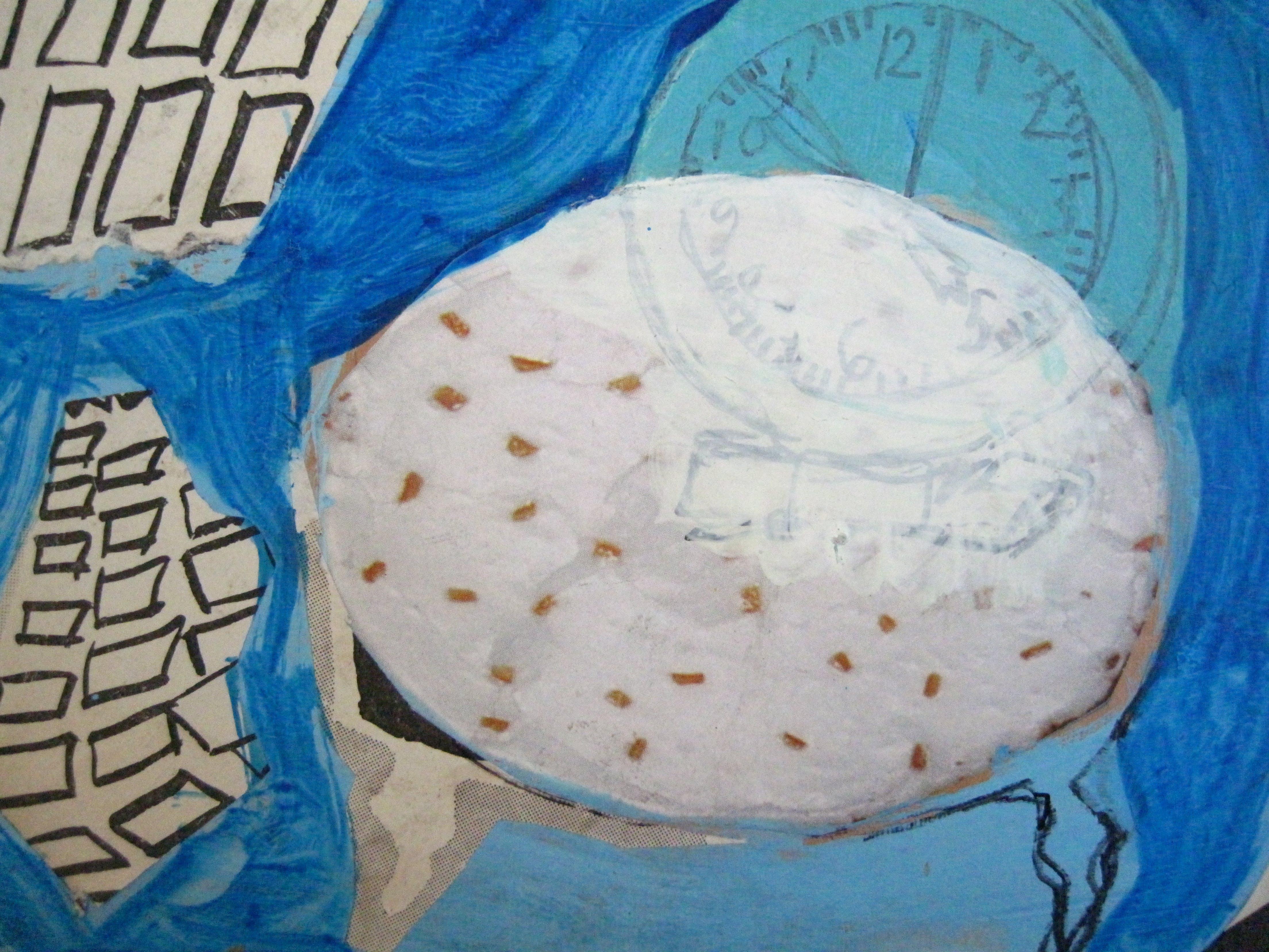 Ystävyydellä, 12cm x 16cm, kollaasi, 2007