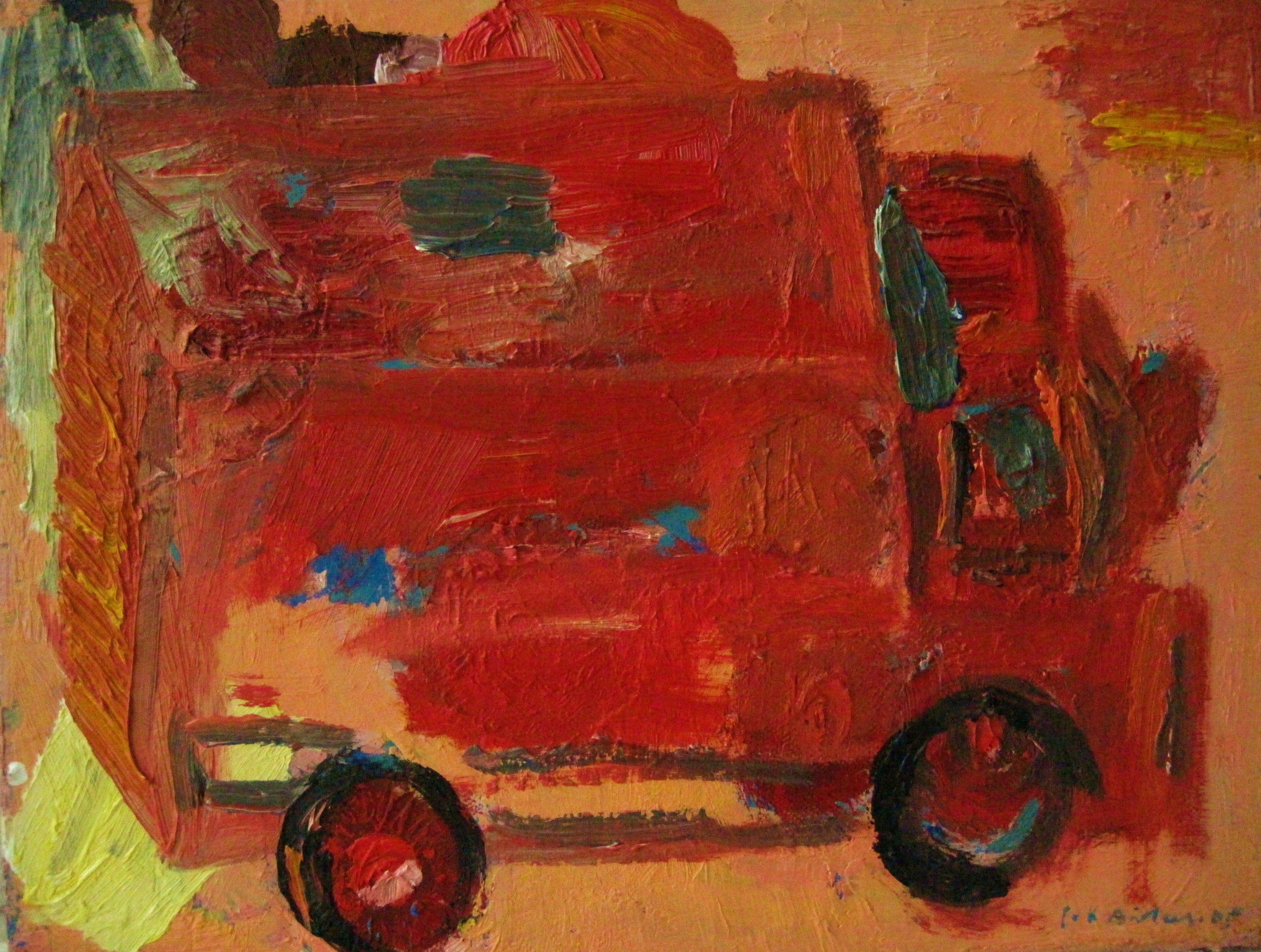 Lollikuumeli, 35cm x 47 cm, öljyväri kankaalle, 2005