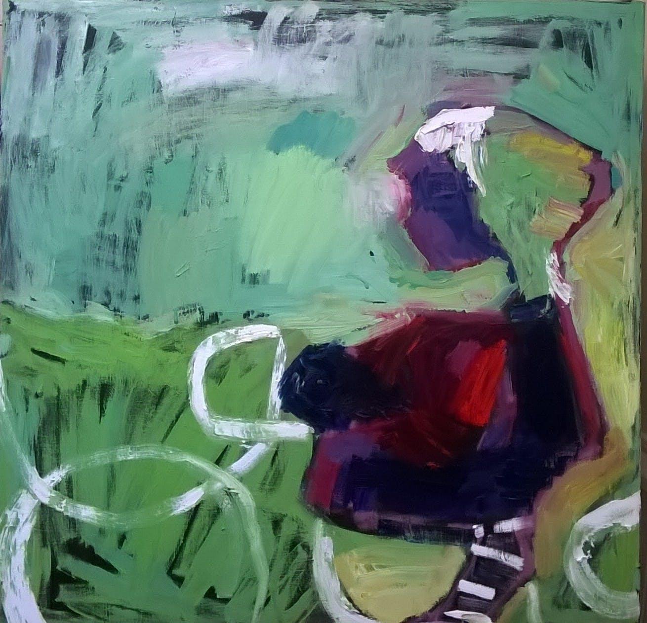 Fillailija, 100cm x 100cm, öljy kankaalle, 2012