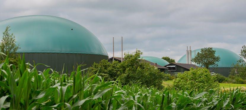 Une infrastructure de biogaz ou biométhane
