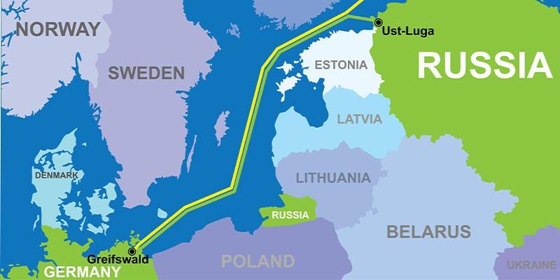 Le tracé du gazoduc Nord Stream 2