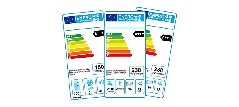 Voici un exemple d'étiquette énergie