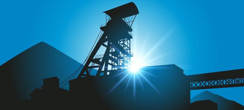 Une mine de charbon