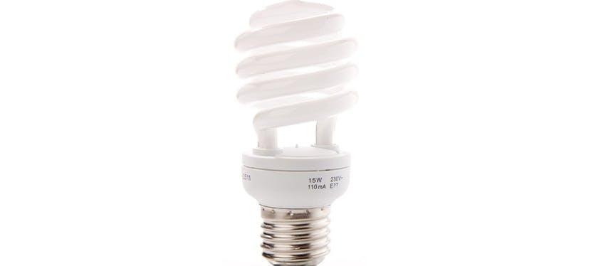 Une ampoule fluorescentes