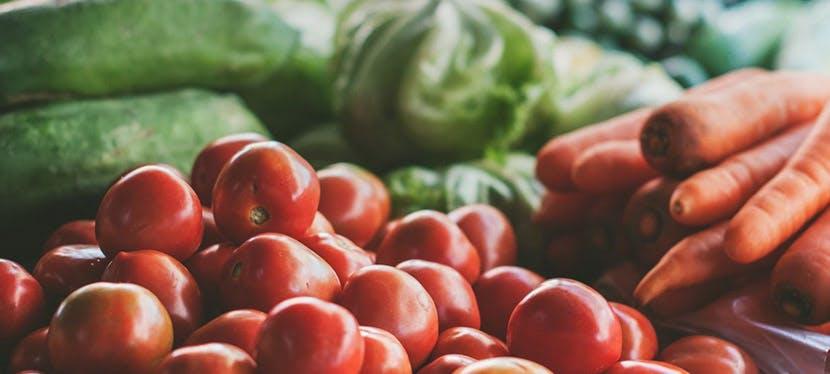 Des tomates, carottes et courgettes