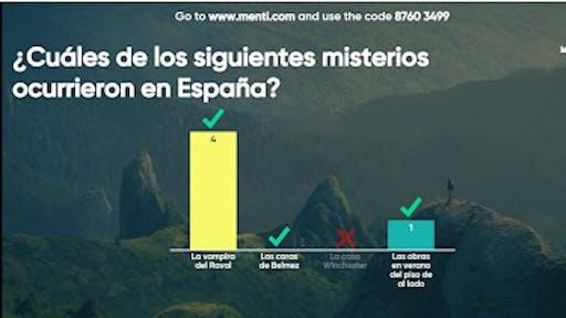 Gráfica de respuestas a la pregunta ¿Cuál de los siguientes misterios ocurrieron en España?