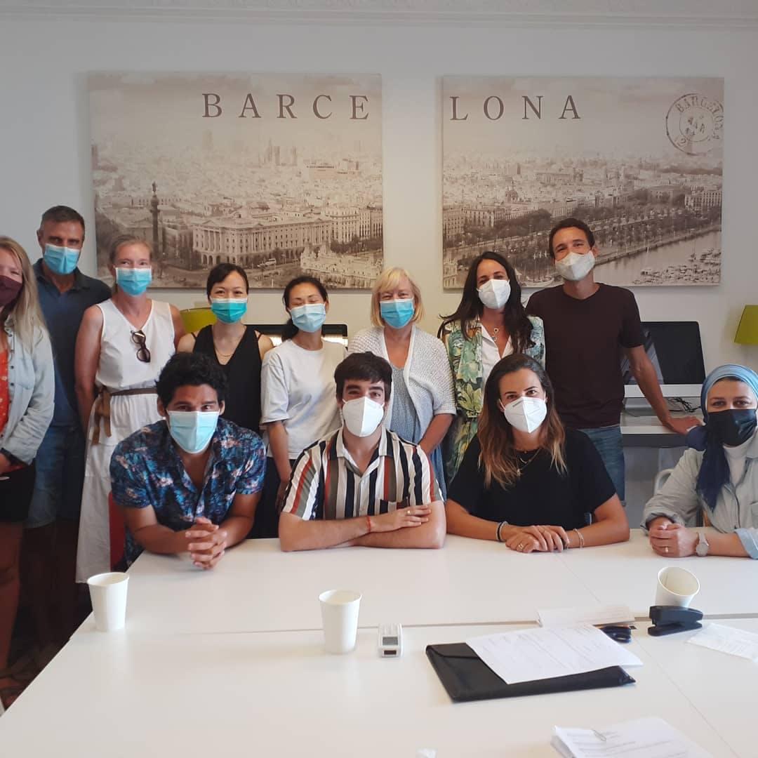 Alumnos y profesores de ELE Barcelona