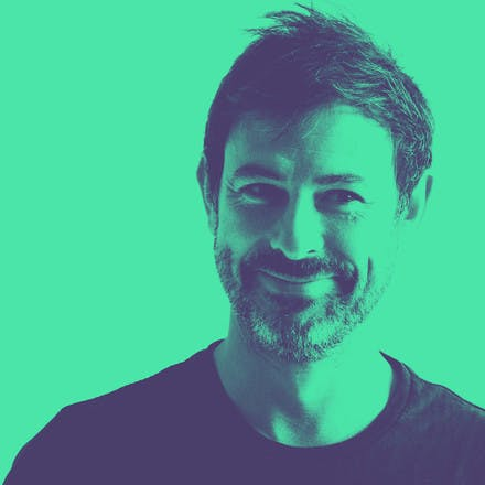 Portrait of Juanmi Sansinenea founder and director at Elespacio