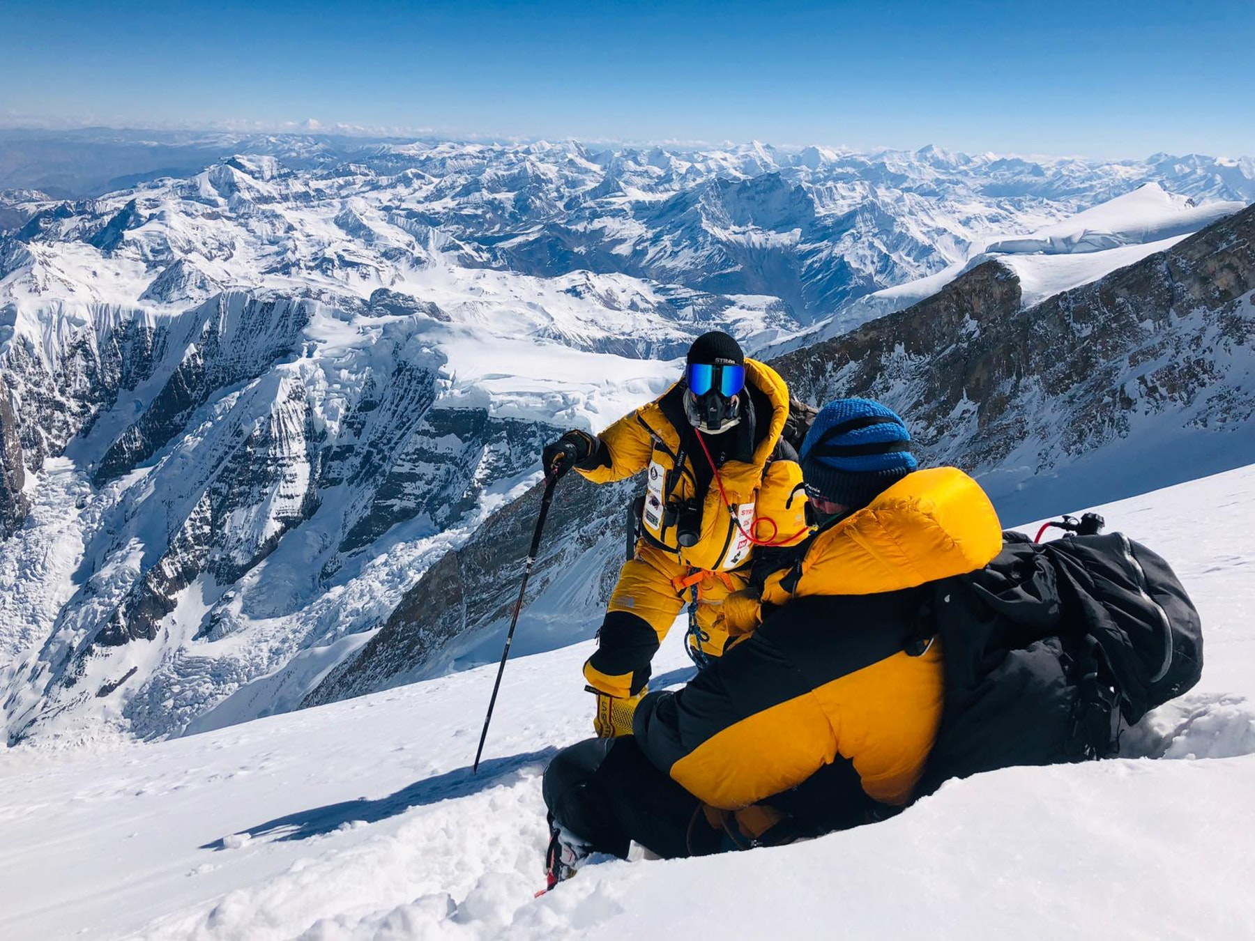 Climbers resting on their Annapurna Ascent