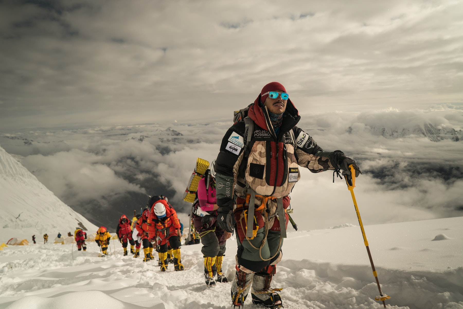 Our leader Nimsdai leading the way during Manaslu Ascent