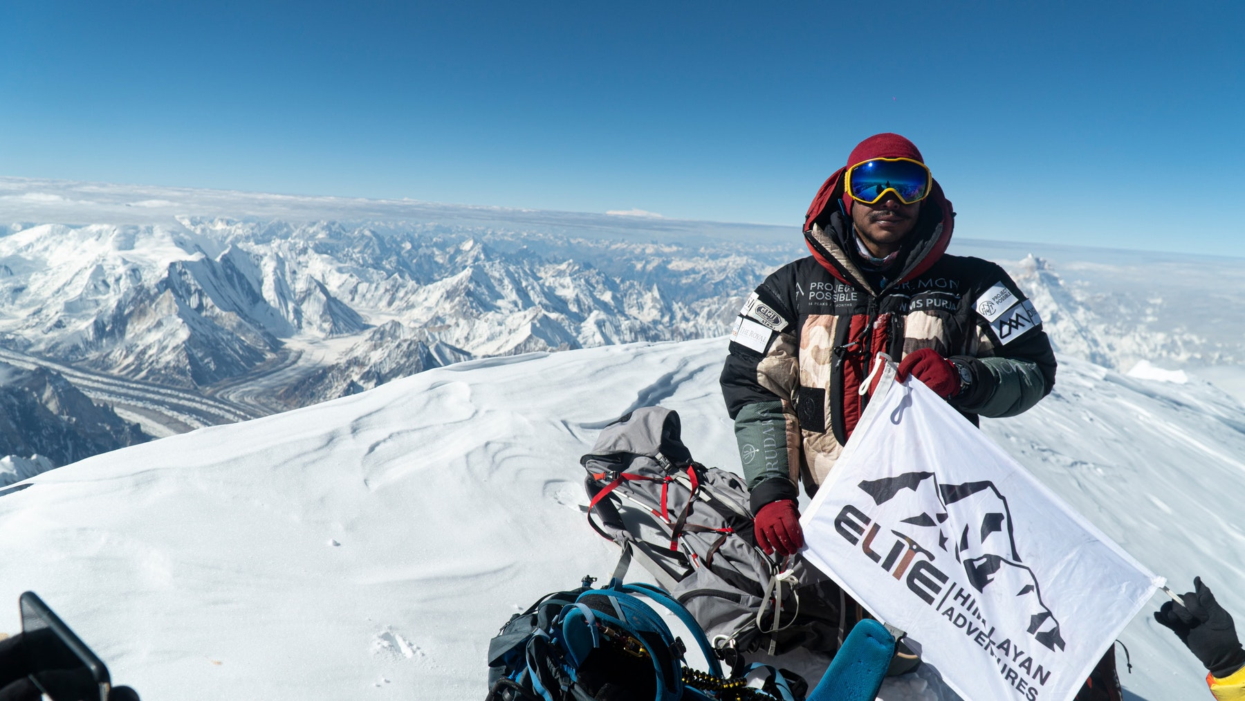 Nimsdai on the summit of K2